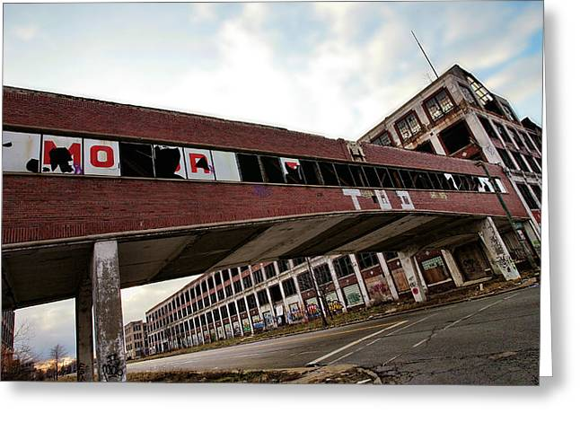 Clippers Digital Art Greeting Cards - Motor City Industrial Park The Detroit Packard Plant Greeting Card by Gordon Dean II