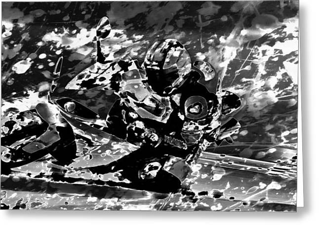 World Rally Championship Greeting Cards - Motorcycle Racing 01 Greeting Card by Brian Reaves