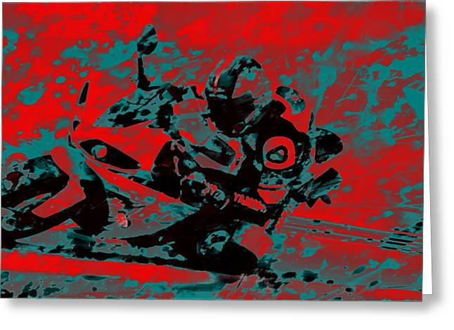 World Rally Championship Greeting Cards - Motorcycle Racing 02 Greeting Card by Brian Reaves