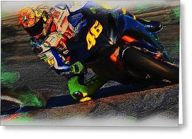 World Rally Championship Greeting Cards - Motorcycle Racing 02a Greeting Card by Brian Reaves