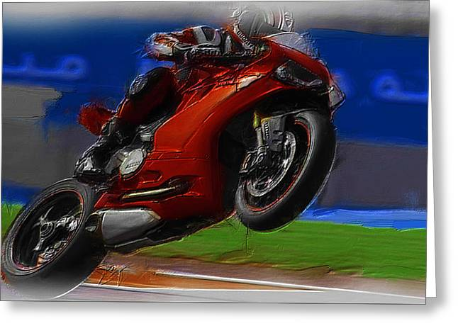 World Rally Championship Greeting Cards - Motorcycle Racing 03a Greeting Card by Brian Reaves