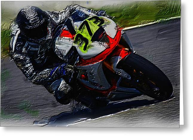 World Rally Championship Greeting Cards - Motorcycle Racing 04a Greeting Card by Brian Reaves