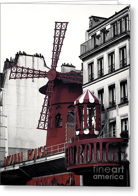 Recently Sold -  - ist Photographs Greeting Cards - Moulin Rouge Fusion Greeting Card by John Rizzuto