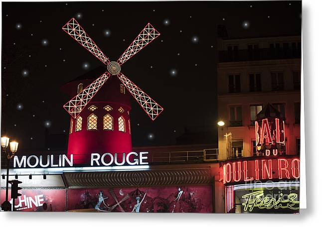 Attraction Greeting Cards - Moulin Rouge Greeting Card by Juli Scalzi