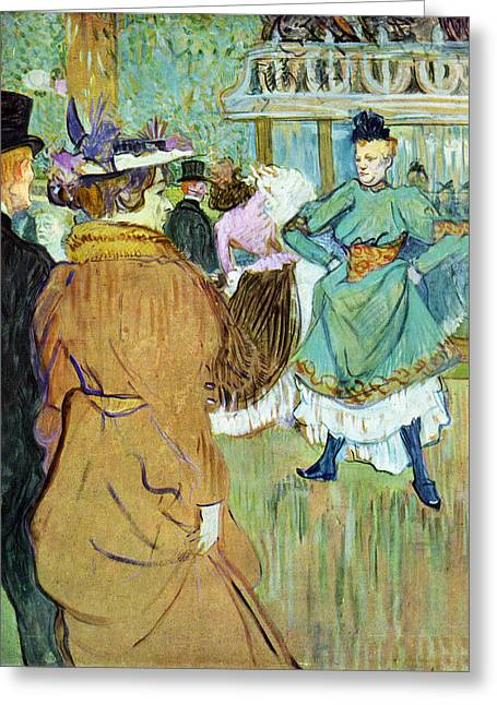 Prostitution Paintings Greeting Cards - Moulin Rouge Greeting Card by Toulouse Lautrec