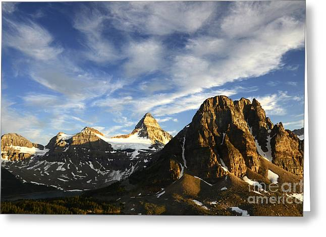 Mount Assiniboine Canada 14 Greeting Card by Bob Christopher