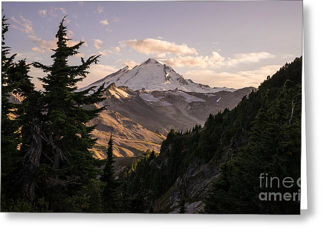 North Cascades Greeting Cards - Mount Baker Beautiful Landscape Greeting Card by Mike Reid