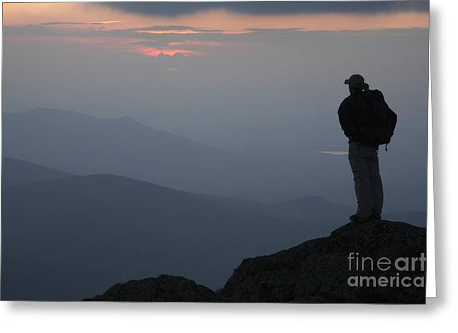Haze Photographs Greeting Cards - Mount Clay Sunset - White Mountains New Hampshire USA Greeting Card by Erin Paul Donovan