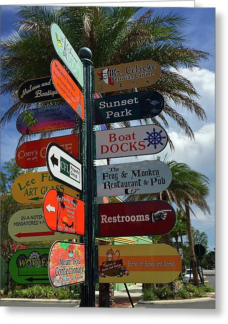 Mount Dora Options Greeting Card by Denise Mazzocco