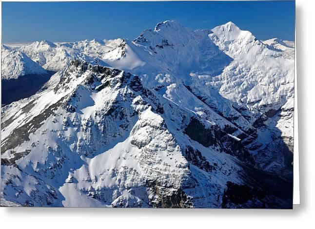 Mount Earnslaw Greeting Card by Nicholas Blackwell