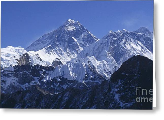 Mount Everest Nepal Greeting Card by Rudi Prott