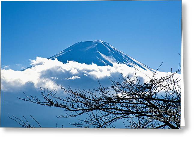 Overexposed Greeting Cards - Mount Fuji Greeting Card by Bill Brennan - Printscapes