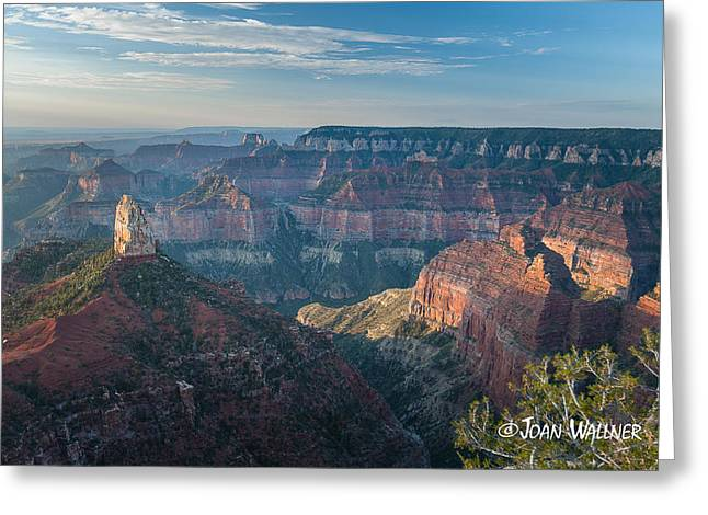 Shades Of Red Greeting Cards - Mount Hayden Greeting Card by Joan Wallner