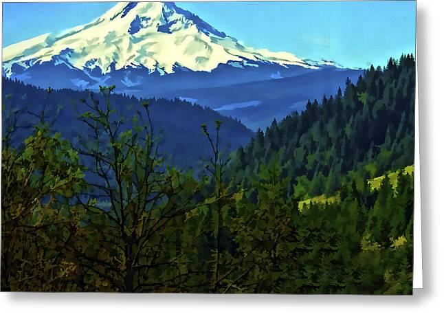 Mt Digital Greeting Cards - Mount Hood Greeting Card by Dale Stillman