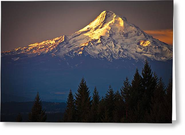 Mount Hood From The North Greeting Card by Ed Book