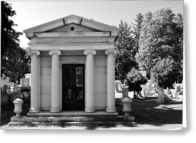 Mount Hope Black And White Greeting Card by Richard Jenkins