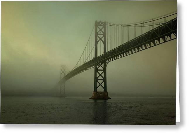 Mount Hope Bridge Greeting Card by Dave Gordon