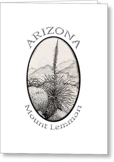 Pen Greeting Cards - Mount Lemmon Greeting Card by James Lewis Hamilton