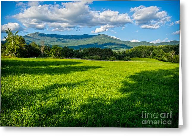 Field. Cloud Greeting Cards - Mount Mansfield Greeting Card by James Aiken