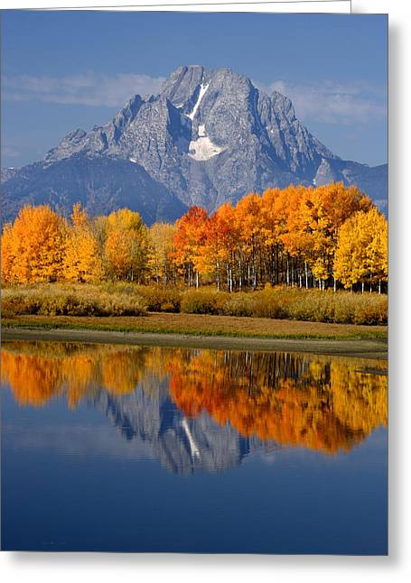 Mount Moran Reflections Greeting Card by Eric Foltz