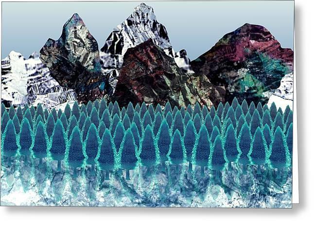 Mount North Greeting Card by Varpu Kronholm