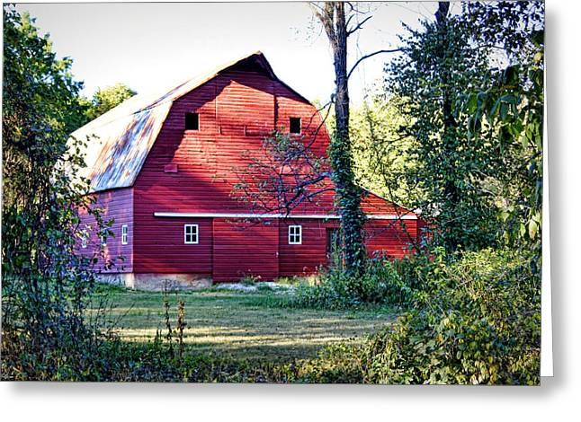Southern Boone County Greeting Cards - Mount Pleasant Road Barn Greeting Card by Cricket Hackmann