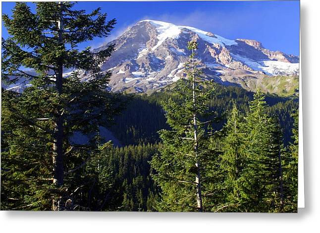 Mount Raineer 1 Greeting Card by Marty Koch