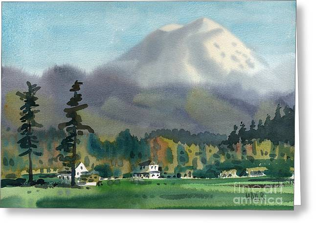 Mt Greeting Cards - Mount Rainier Greeting Card by Donald Maier
