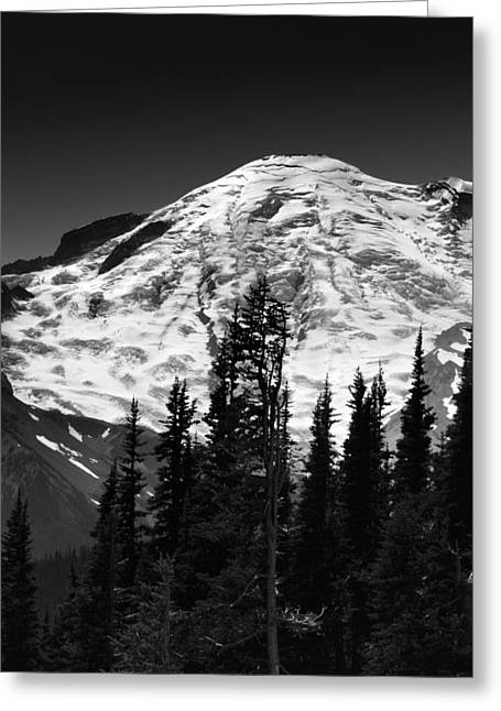 Mount Rainier Emmons And Winthrop Glaciers Washington  Greeting Card by Brendan Reals
