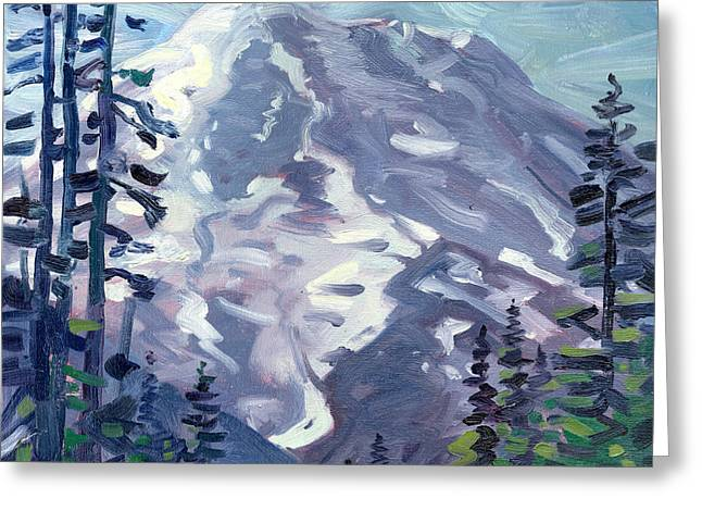 Summit Greeting Cards - Mount Rainier from Sunrise Point Greeting Card by Donald Maier