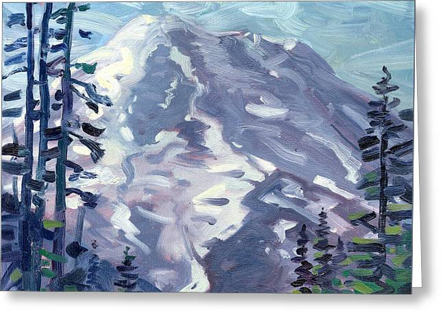 Mount Rainier From Sunrise Point Greeting Card by Donald Maier