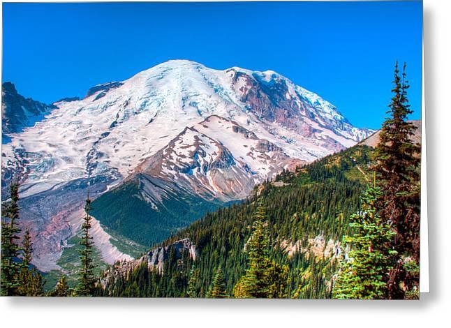 David Patterson Greeting Cards - Mount Rainier IV Greeting Card by David Patterson