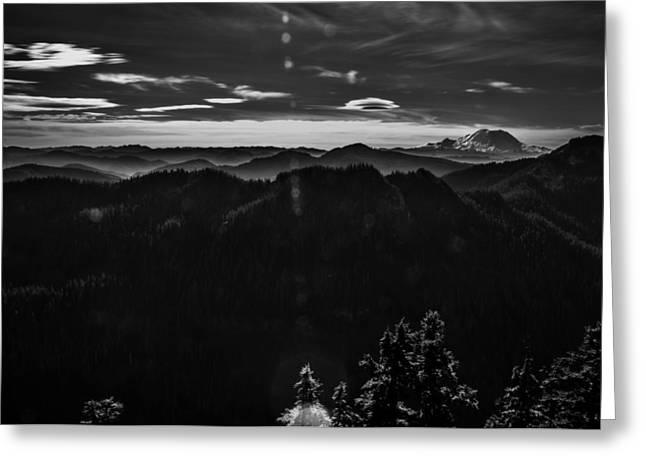 Mount Rainier With Rolling Hills Greeting Card by Pelo Blanco Photo