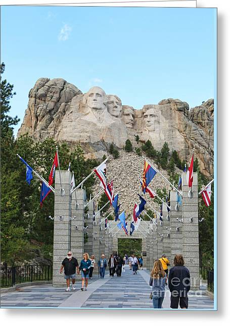 Mount Rushmore  8713 Greeting Card by Jack Schultz