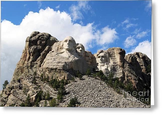 Gutzon Greeting Cards - Mount Rushmore 8850 8851 Panorama1 Greeting Card by Jack Schultz