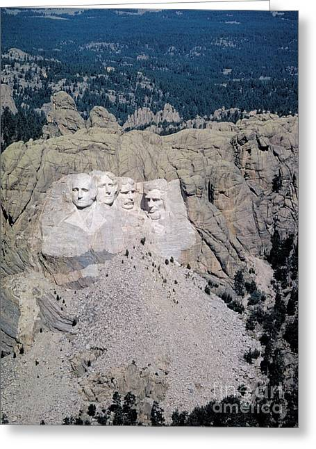 Gutzon Greeting Cards - Mount Rushmore, Black Hills, South Greeting Card by Georg Gerster