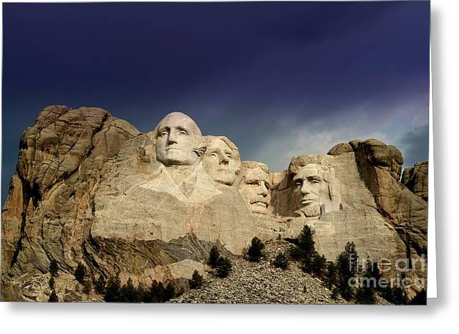Mount Rushmore Greeting Card by Brent Parks