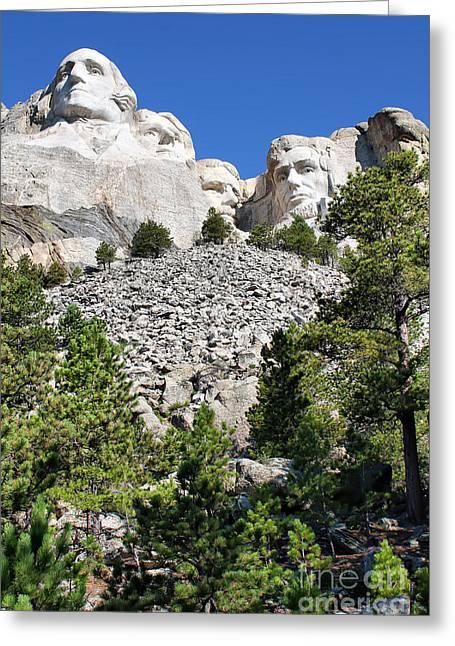 Dakota Faces Greeting Cards - Mount Rushmore II Greeting Card by Teresa Zieba