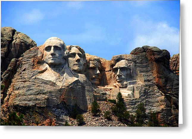 Dakota Faces Greeting Cards - Mount Rushmore in South Dakota Greeting Card by Susanne Van Hulst