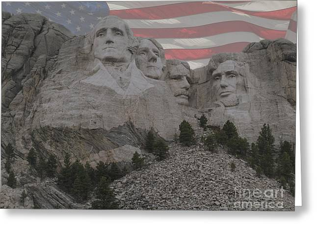 President Of America Photographs Greeting Cards - Mount Rushmore Greeting Card by Juli Scalzi