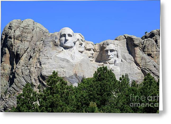 Mount Rushmore Greeting Card by Louise Heusinkveld