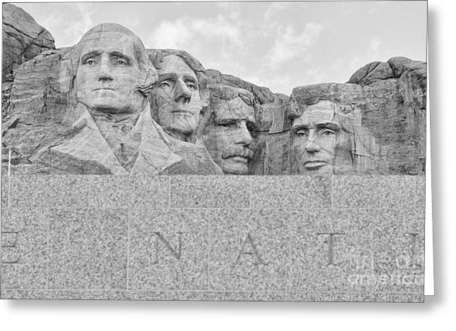 Mount Rushmore National Memorial  8708 Greeting Card by Jack Schultz