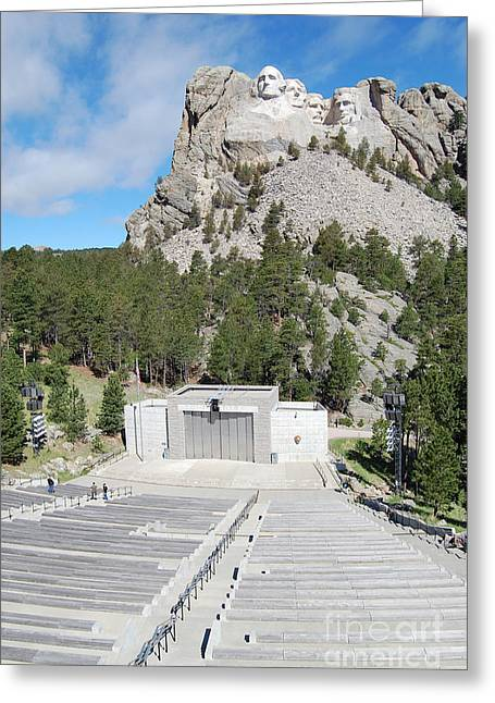 Mount Rushmore National Monument Amphitheater South Dakota Greeting Card by Shawn O'Brien