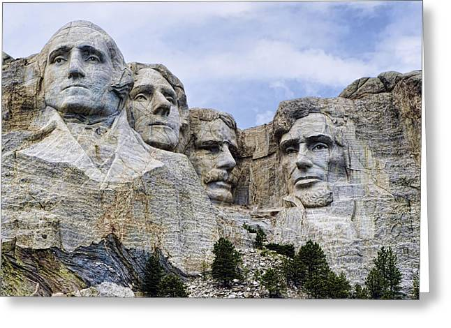 Mount Rushmore Greeting Cards - Mount Rushmore National Monument Greeting Card by Jon Berghoff