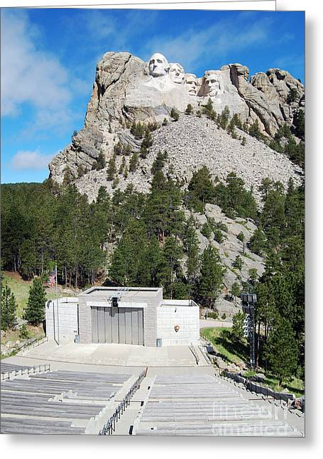Mount Rushmore National Monument Overlooking Amphitheater South Dakota Greeting Card by Shawn O'Brien