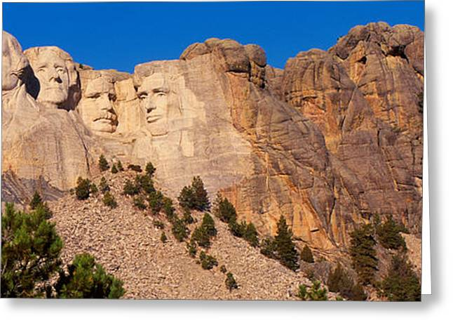 President Of America Photographs Greeting Cards - Mount Rushmore Greeting Card by Panoramic Images