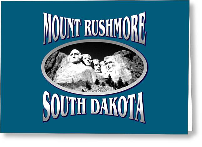 T Shirts Tapestries - Textiles Greeting Cards - Mount Rushmore South Dakota Greeting Card by Art America - Art Prints - Posters - Fine Art