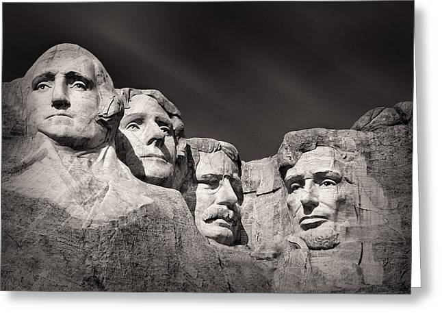 White Face Mountain Greeting Cards - Mount Rushmore South Dakota USA Greeting Card by Ian Barber