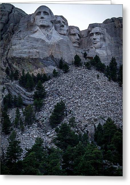 Gutzon Greeting Cards - Mount Rushmore Greeting Card by Susie Weaver
