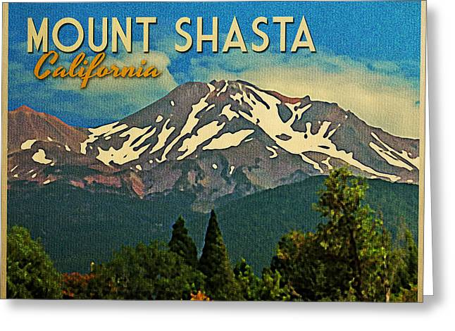 Mt. Shasta Greeting Cards - Mount Shasta California Greeting Card by Flo Karp